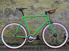 Green Yellow Fixed Gear Beauty