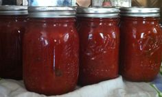 Easy Chunky Canned Pasta or Pizza Sauce. I am not great at canning, but even I can do this and it is amazing!
