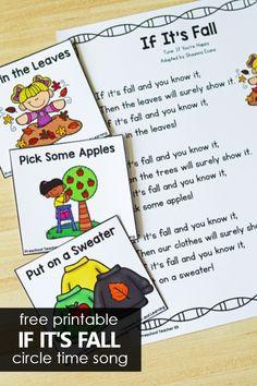 If It's Fall Preschool Circle Time Song - Fantastic Fun & Learning