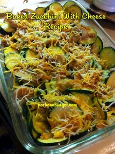 Baked Zucchini With Cheese Recipe