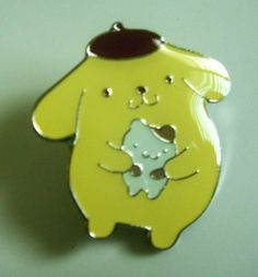 Japan Character Purinrin Purin Dog Metal Pin Badge . $1.50
