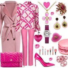 How To Wear Something pink 2 Outfit Idea 2017 - Fashion Trends Ready To Wear For Plus Size, Curvy Women Over 20, 30, 40, 50