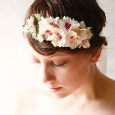 floral hair band 'MADEMOISELLE' wedding accessory by whichgoose, $75.00