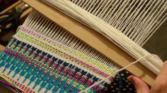 Beginners Krokbragd on a rigid heddle loom. My Online Weaving School- . Pick up sequence: Stick A - 1 up, 1 down Stick B (or heddle rod)- 1 down, 1 up Weaving shed sequence - Up and pick up stic Weaving Yarn, Weaving Textiles, Weaving Patterns, Tapestry Weaving, Basket Weaving, Hand Weaving, Hanging Tapestry, Cricket Loom, Weaving Projects