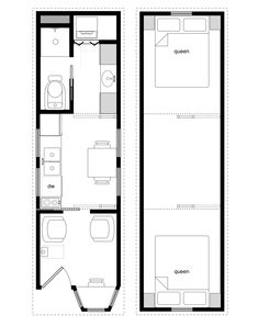 Sample Floor Plans for the 8×28 Coastal Cottage | Tiny House ...