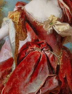 Portrait of the actress Marie-Anne de Chateauneuf, by Nicolas de Largillierre,1712 (detail) ~ VoyageVisuelle ✿⊱╮
