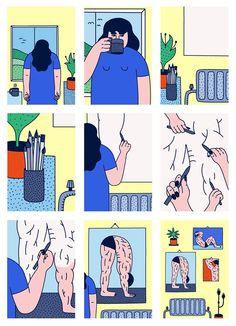 Muscle Comics by Martina Paukova
