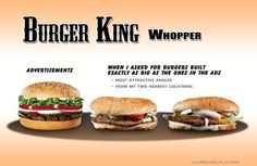 Burger King Whopper - a real case of Fact vs. Fiction