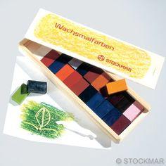 Stockmar Wachsmalblöcke - 24 Farben im Holzkasten