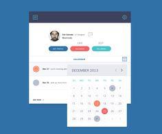 Calendar View designed by Rovane Durso. Connect with them on Dribbble; Web Design, Flat Design, Graphic Design, Calendar Ui, Modal Window, Tablet Ui, Calendar Organization, Dashboard Ui, Ui Elements