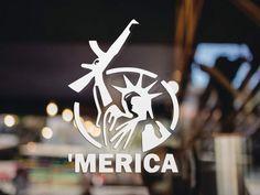/'MERICA Statue of Liberty STICKER DECAL  2nd amendment 3/%  America