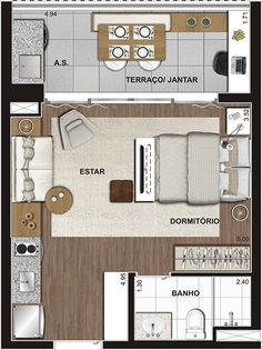 All Aclimação Layouts Casa, House Layouts, Studio Floor Plans, House Floor Plans, Studio Type Apartment, Small Apartment Layout, Apartment Floor Plans, Floor Plan Layout, Tiny Apartments