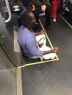Don't cross this mans meditation lines Chicago CTA train #Followme #CooliPhone6Case on #Twitter #Facebook #Google #Instagram #LinkedIn #Blogger #Tumblr #Youtube