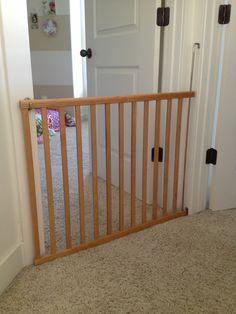 I Built A Sliding Dog Gate From Scratch Pets Dogs Pinterest