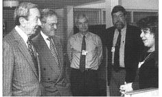 Ingrid Barzel (pictured here with Secretary of State Warren Christopher and other State Department staffers)