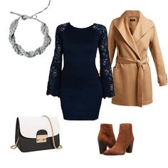 Ötlet, hogyan viseld a fekete ruhát visszafogott / klasszik elegáns stílusban. Stylist tips for black dress. Low-key / Classic style. Outfit board. #feketeruha #elegáns #öltözködés #stylist #outfit #ideas #clothing #fashion #classic #elegant #stylish #black #dress #wear #ideas #stílustanács Ford, Outfit, Polyvore, Image, Dresses, Fashion, Outfits, Vestidos, Moda