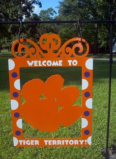 Clemson Garden Flag by atmiles on Etsy, $35.00