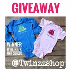 Support a Small Shop and enter this fun Giveaway! Baby Giveaways, Social Media Pages, Pink Blue, Baby Gifts, Kids Room, Shop, Christmas, Fun, Life