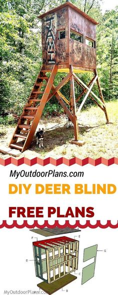 28 Deer Shooting House Plans Free Deer Shooting House Plans Free - Free Deer Shooting Blind Plans for your to learn how to 11 Free DIY Deer Stand Plans Free Box Deer Stand Building Pla. Quail Hunting, Deer Hunting Tips, Deer Hunting Blinds, Turkey Hunting, Hunting Dogs, Coyote Hunting, Pheasant Hunting, Archery Hunting, Hunting Stuff