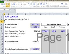 Bank Reconciliation Template  Easy Steps To Balance Your Accounts