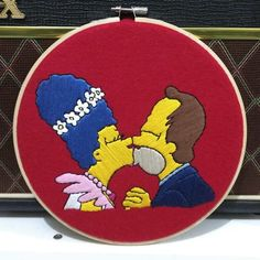 Happy Valentine Day Source by background Cute Embroidery, Cross Stitch Embroidery, Embroidery Patterns, Simpsons Tattoo, Camping Crafts, Crafts To Do, Happy Valentines Day, Colorful Backgrounds, Beauty Background