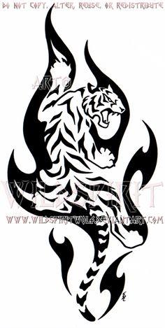 Climbing Flame Tiger Design by WildSpiritWolf on DeviantArt