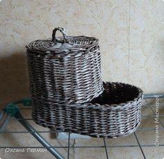Поделка изделие Плетение ботинок для чеснока Трубочки бумажные фото 1