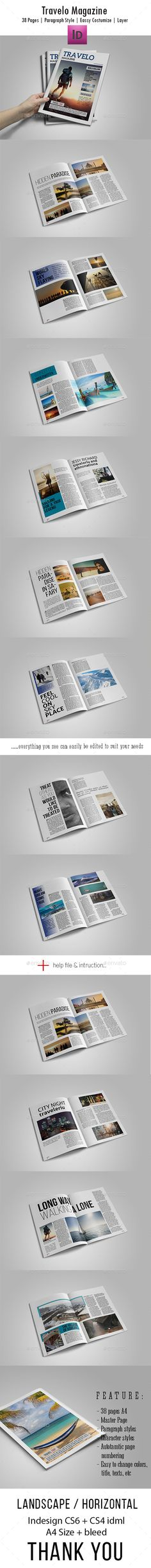Travel Magazine Template InDesign INDD #design Download…