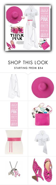 """""""Disney Princesses #thinkpink #ibelieveinpink (#582)"""" by nobility99 ❤ liked on Polyvore featuring Michael Lo Sordo, Lane Bryant, Michael Kors and Avon"""
