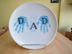 fathers day painted plates - Google Search
