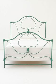 Crawford Queen Bed - teal iron bed. please.