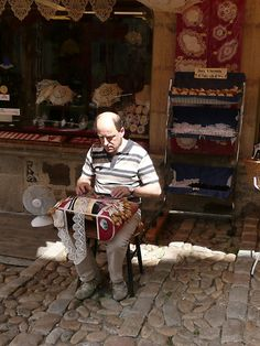 France good to see other modern men making lace.