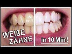 Weiße Zähne in 10 Minuten   Gelbe Zähne aufhellen mit diesen Hausmittel Weiße Zähne wünscht sich ja jeder und diesmal habe ich für Euch einen weiteren einfachen Trick wie ihr Euch ganz einfach zuhause die gelblichen Zähne aufhellen könnt. Der Trick ist wirklich super einfach und jeder kann ihn nachmachen. Probiert es doch einfach selber mal aus!
