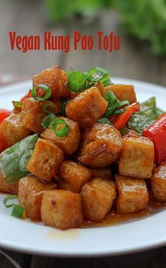 Vegan Kung Pao Tofu Didn't have black vinegar; substitute 1 part balsamic vinegar 1 part rice wine vinegar 3 parts water