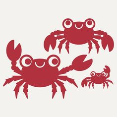 Happy Crab Wall Decal Stickers for Ocean Nursery by graphicspaces