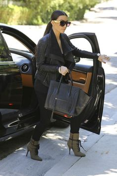 kim kardashian in los angeles with Céline graphic sunglasses