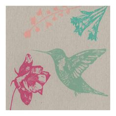 Hummingbird and Flowers Card Pretty Flowers, Beautiful Hands, Hummingbird, Rooster, Greeting Cards, Prints, Animals, Collection, Beautiful Flowers