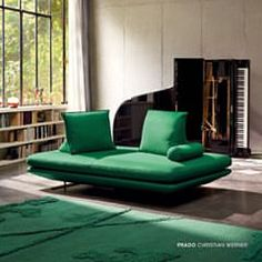 Subtle interior by Lithuanian designer with . Muuto Sofa, Ligne Roset Sofa, Kempinski Hotel, Paris Apartments, Prado, Decoration, Floor Chair, Green Colors, Couch