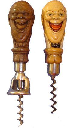 Laughing man corkscrews