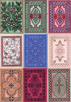 14: Back Designs - The World of Playing Cards | Goodall designs, c.1862-75