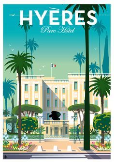 Low Cost Insurance Plan For The Welfare Of Your Loved Ones Parc Hotel _______________________________ Hyres France Retro Poster, Old Poster, Art Deco Posters, Poster Ads, Vintage Travel Posters, Poster Prints, Vintage Advertisements, Vintage Ads, Vintage Style
