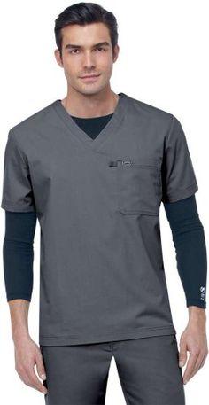 From allheart's huge selection of men's scrubs: Ecko Men's Riverside Basic Solid Scrub Top Scrubs Outfit, Scrubs Uniform, Men In Uniform, Cleaning Uniform, Nursing Jackets, Lab Coats, Designer Suits For Men, Medical Uniforms, Medical Scrubs