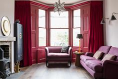 The Red Room  A colourful bohemian home for a writer and her family in London.  Anouska Tamony Designs- Interior design studio