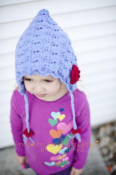 Hand Crocheted Flower Bonnet
