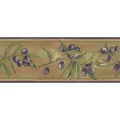 Olive Trail Wallpaper Border, Multicolor