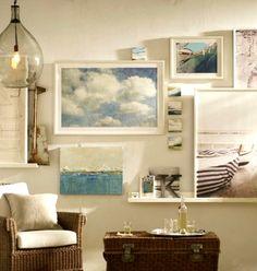 Ideas for Coastal Gallery Walls: http://www.completely-coastal.com/2013/10/coastal-art-gallery-walls.html