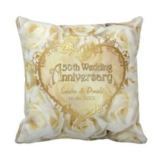 White Rose Elegance - 50th Wedding Anniversary Pillow http://www.zazzle.com/white_rose_elegance_50th_wedding_anniversary_pillow-189282641801414610?rf=238282136580680600