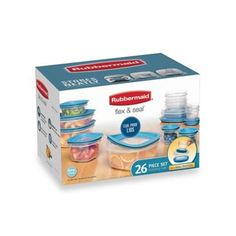 Rubbermaid® Flex & Seal™ 26-Piece Food Storage Set with Easy Find Lids - BedBathandBeyond.com