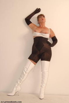 White Jeans, Girdles, Sporty, Flashlight, Lady, Boots, Fashion, Women's Corsets, Crotch Boots