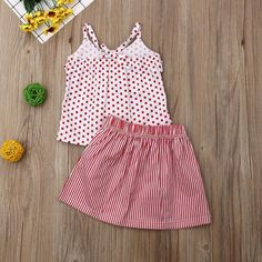 Department Name: ChildrenItem Type: SetsMaterial: CottonGender: GirlsCollar: O-NeckFit: Fits true to size, take your normal size Girls Dresses, Summer Dresses, Little Princess, Baby Dress, Baby Kids, Kids Outfits, Kids Fashion, Polka Dots, Rompers